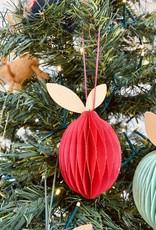 """2-1/4""""H Paper Fruit Ornament"""