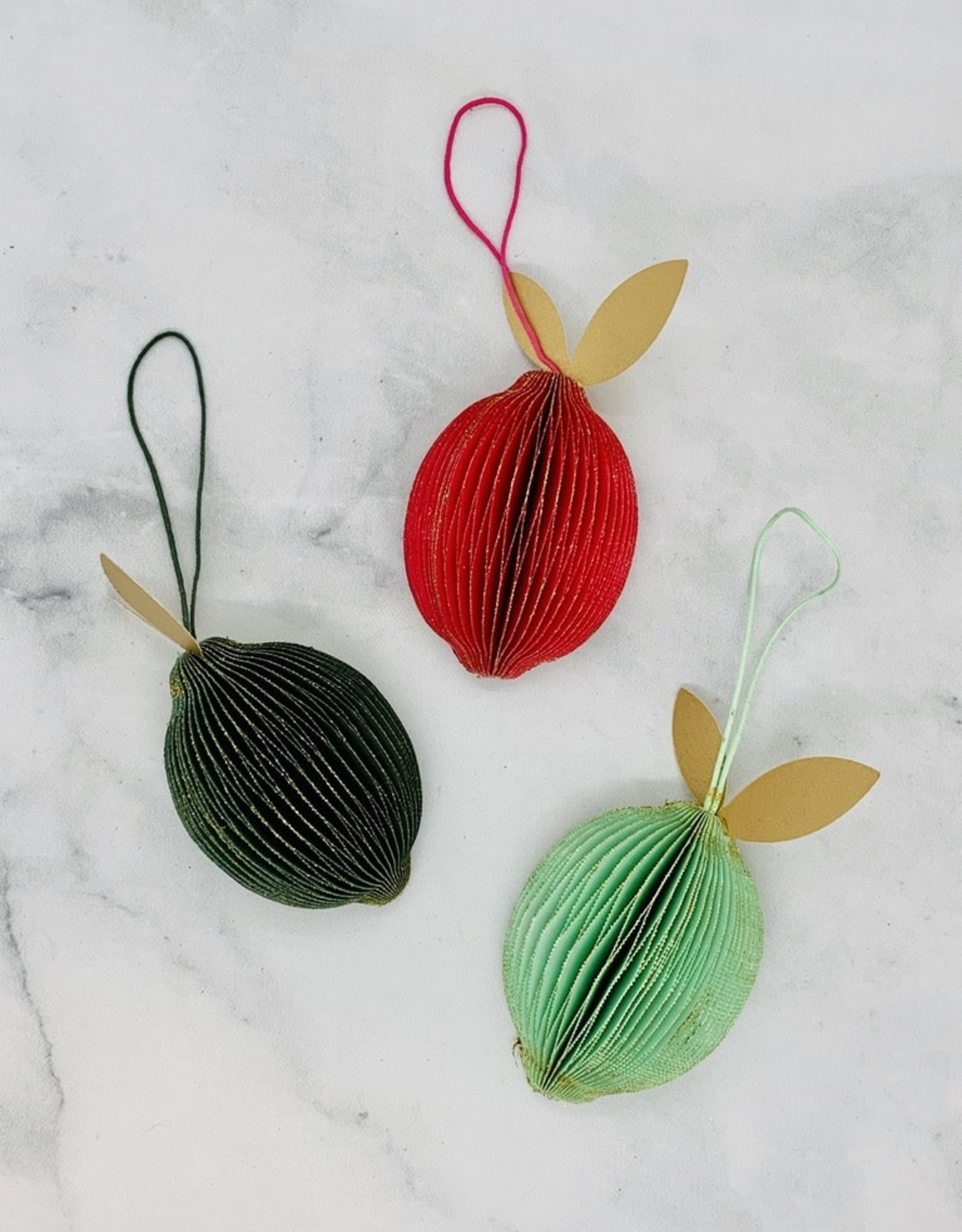 "CREATIVECOOP 2-1/4""H Paper Fruit Ornament"