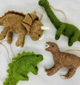 "4-3/4'"" Wool Felt Dinosaur Ornament"