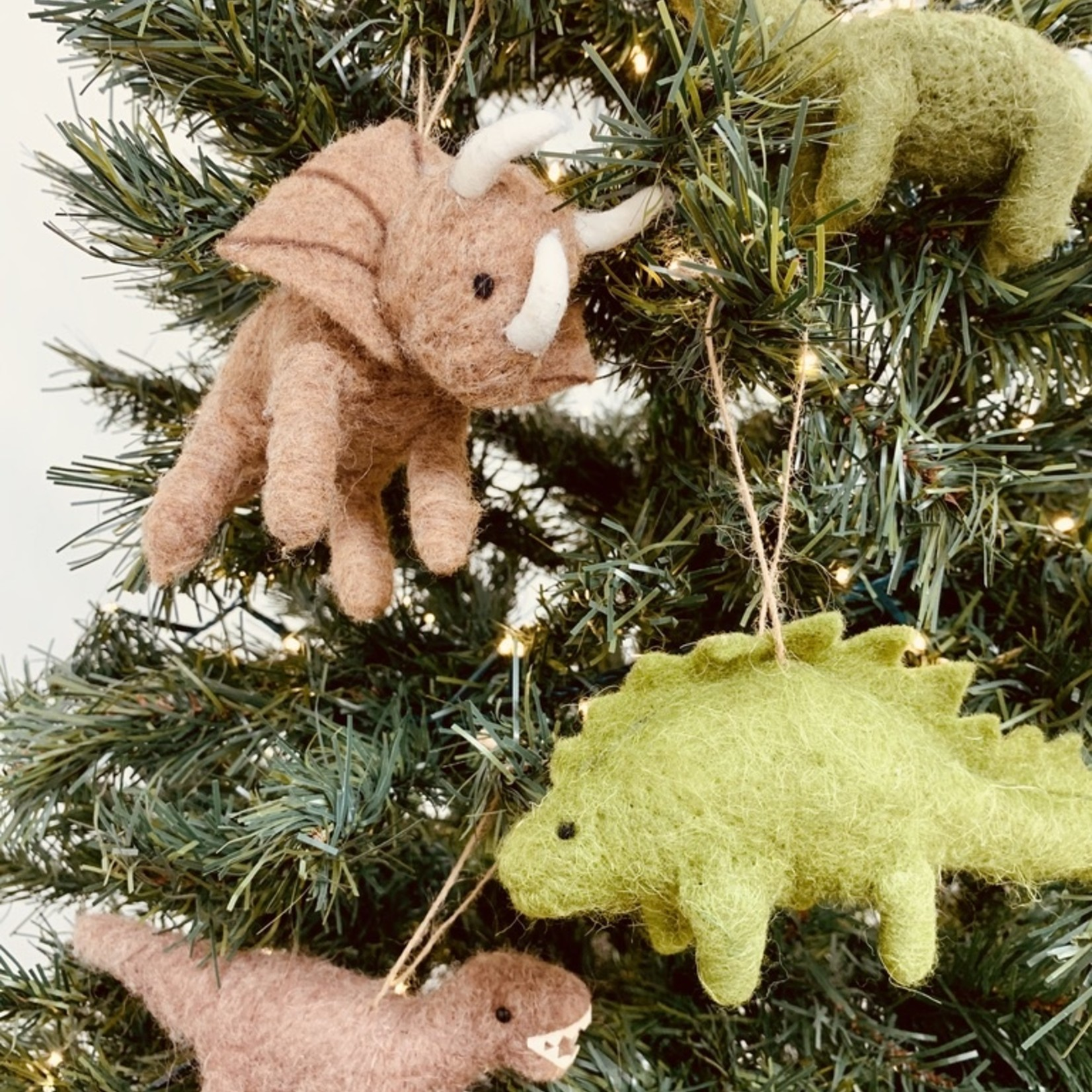 "4-3/4'"" Wool Felt Dinosaur Ornament"