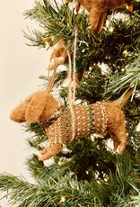 Wool Felt Dog Ornament with