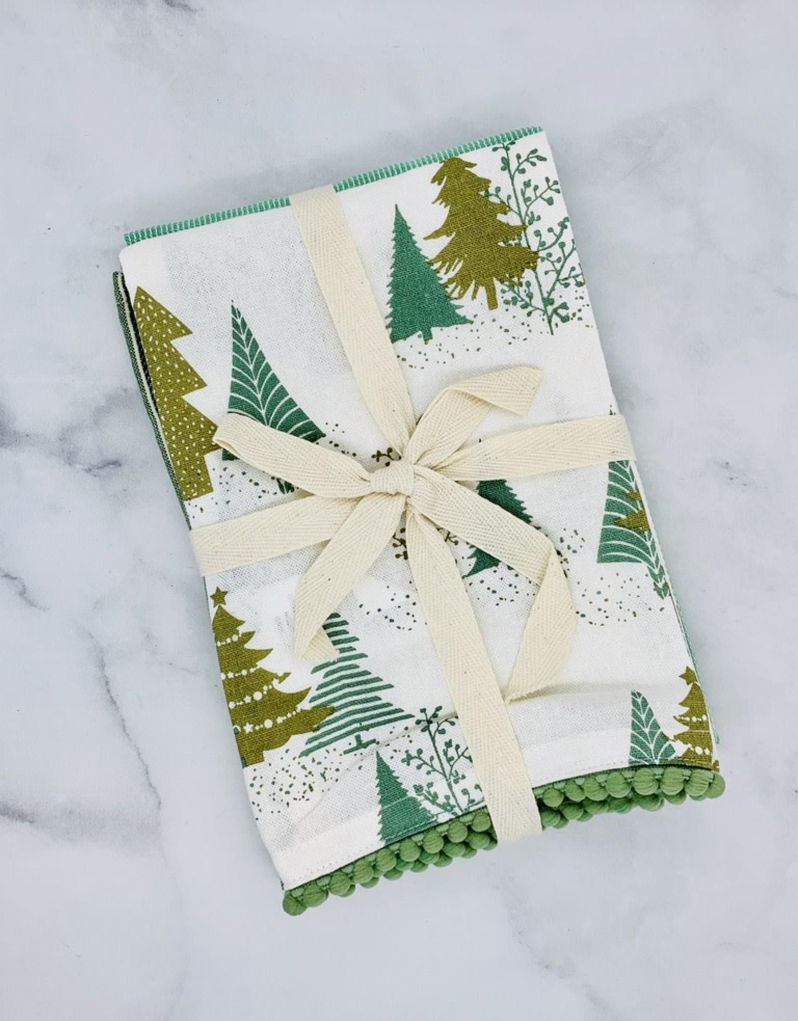Wintergreen Set/3 Cotton Printed Tea Towels