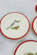 "CREATIVECOOP 3"" Red Rim Bird Dish"
