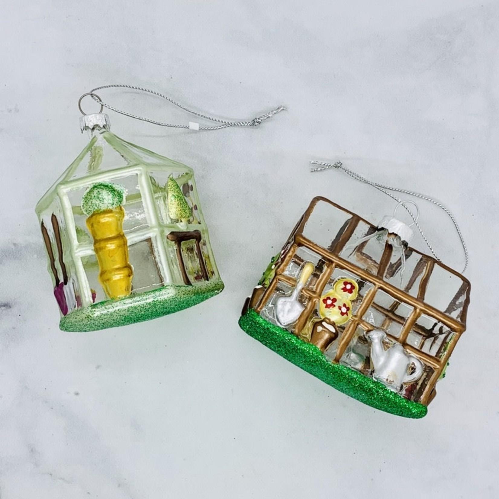 "Glass Greenhouse Ornament 3-1/2"""