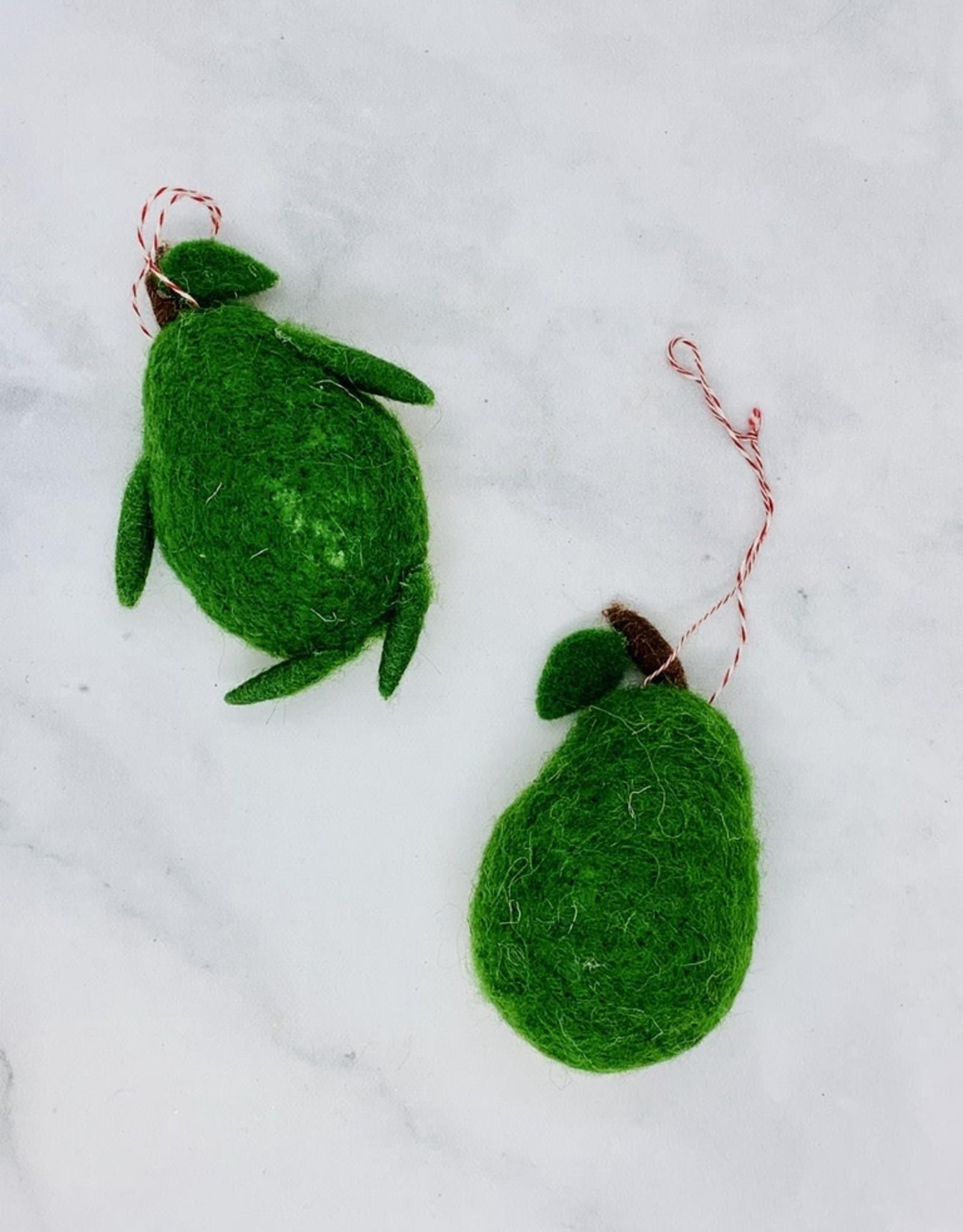 CREATIVECOOP Wool Felt Avocado Ornament