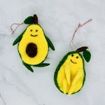 Wool Felt Avocado Ornament