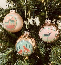 """CREATIVECOOP 3"""" Glass Ball Ornament with Holiday Image"""