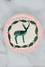"""CREATIVECOOP 8"""" Stoneware Plate with Holiday Image"""