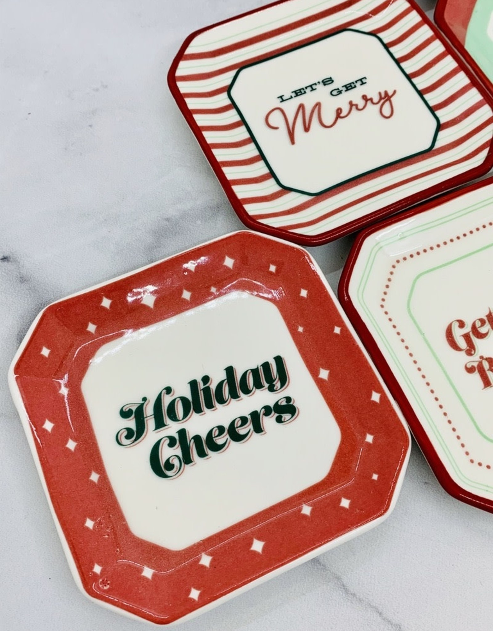 CREATIVECOOP Octagon Holiday Sayings Plate