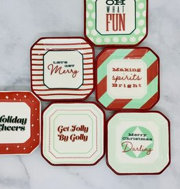 Octagon Holiday Sayings Plate