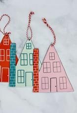 "CREATIVECOOP 6-1/4"" Enameled House Ornament"