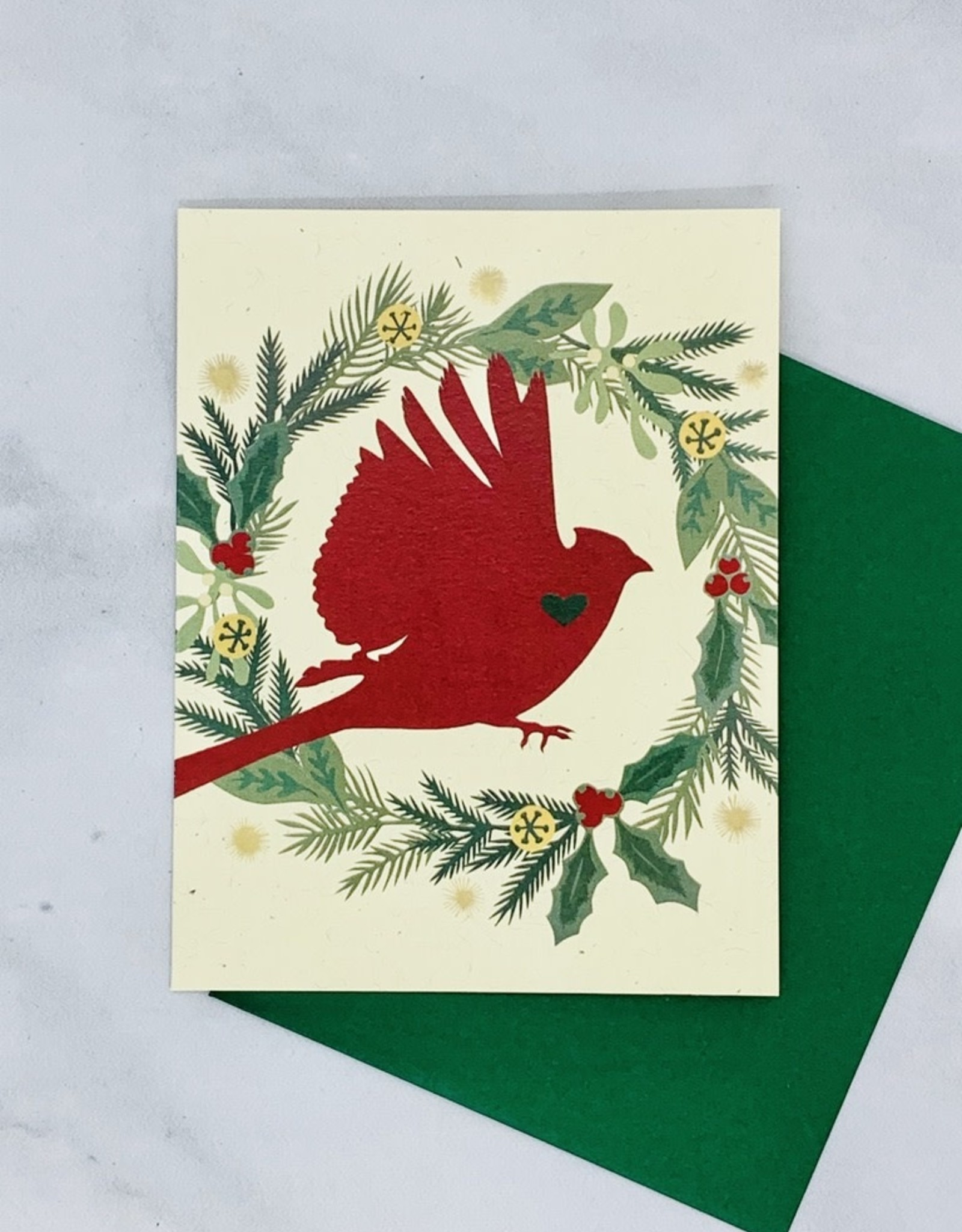 Little Gold Fox Designs Holiday Cardinal Card