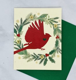 Holiday Cardinal Card