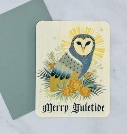 Yule Owl Wood Card