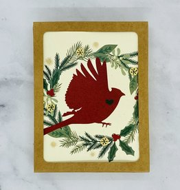 Little Gold Fox Designs Holiday Cardinal Boxed Cards Set of 10