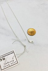 """Locally handmade """"I'm Speaking"""" Silver Necklace by Evan Knox"""