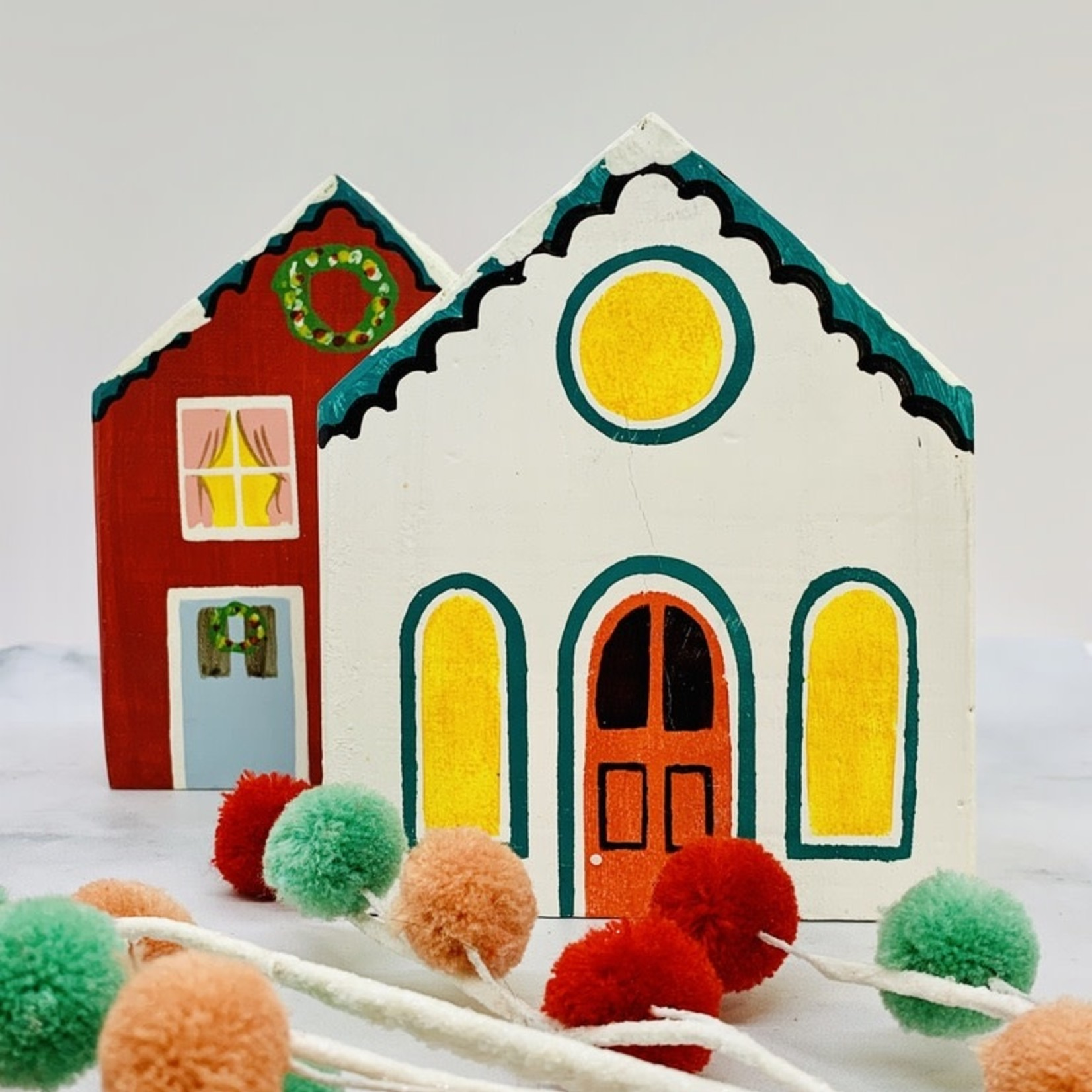 Painted Wood Holiday House