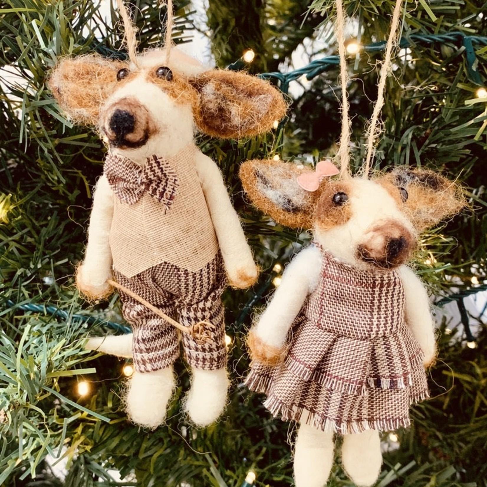 Felt Dog Ornament