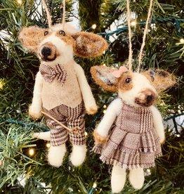 Homart Felt Dog Ornament