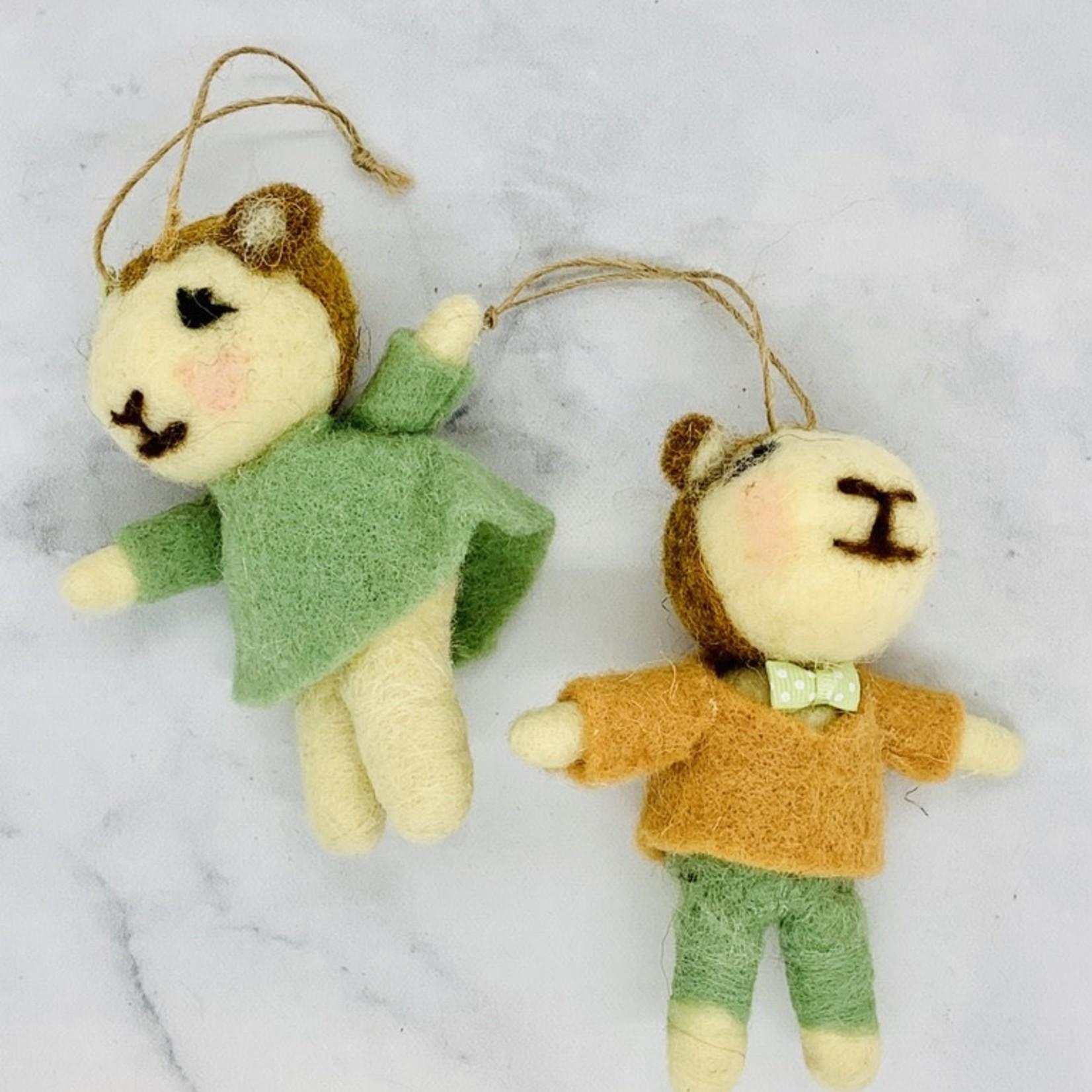 Felt Lamb Ornament