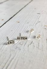 Sterling Silver Statement Stud Earrings