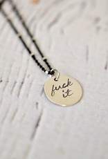 Twigs and Twine Handstamped Out of Line Charm Necklace