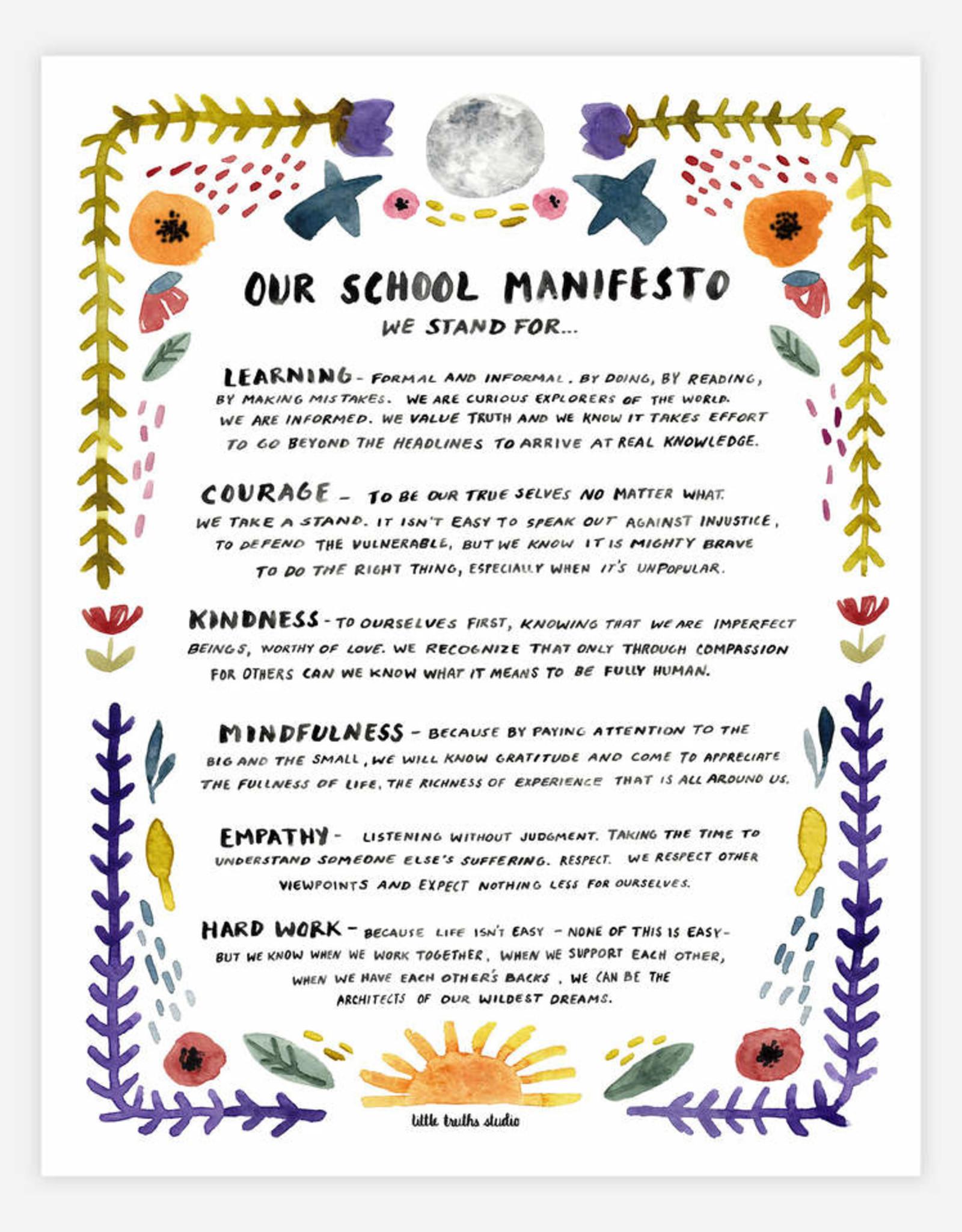 "BUYOLYMPIA School Manifesto 11""x14"" Print"