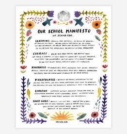 "School Manifesto 11""x14"" Print"
