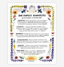 "Family Manifesto 11x14"" Print"