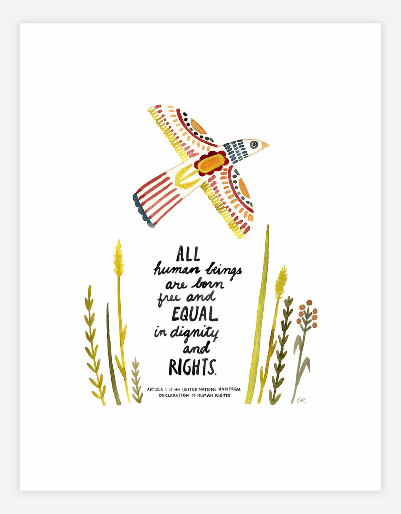 "UN Declaration of Human Rights 8.5x11"" Print"