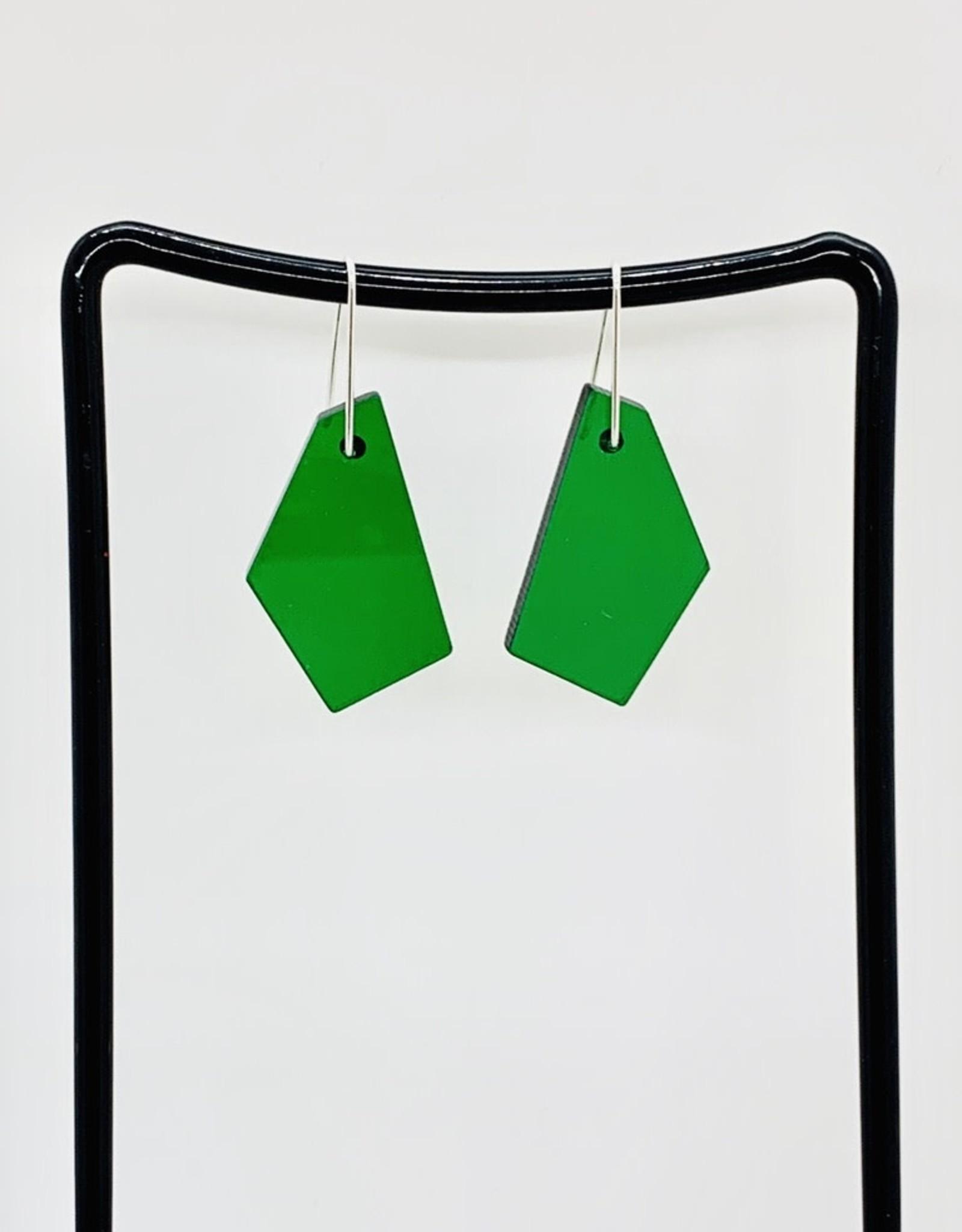 Polygonal Rescued Acrylic Earrings