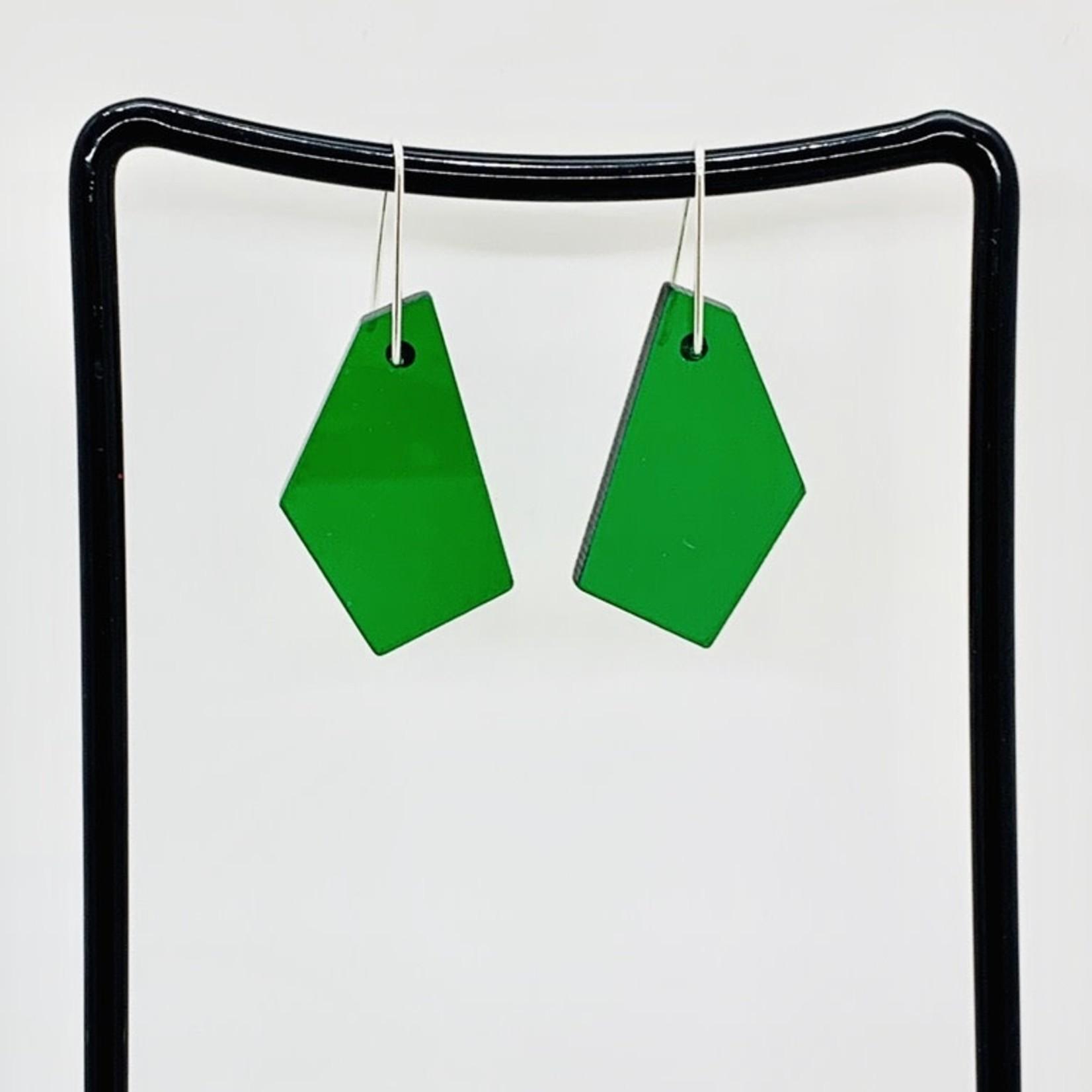 ZASS Polygonal Rescued Acrylic Earrings