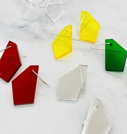 Polygonal Rescued Acrylic Earrings