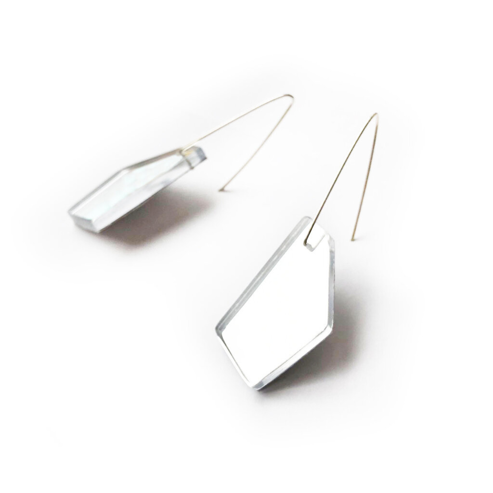 ZASS Polygonal Rescued Acrylic Earrings