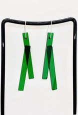 ZASS Linear Rescued Acrylic Earrings
