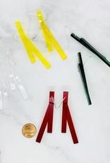 Linear Rescued Acrylic Earrings