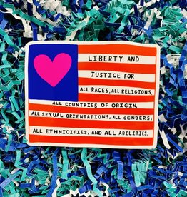 Liberty and Justice Sticker