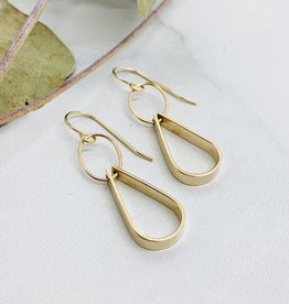 Handmade 14kt Gold Filled Double Drop Earring
