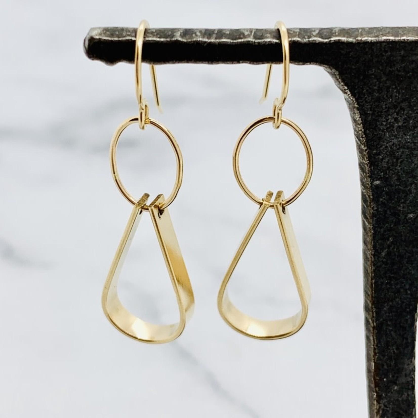 Handmade 14kt Gold Filled Double Drop Earring