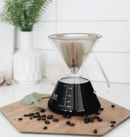 Ovalware RJ3 Pour Over Coffee Maker with Filter