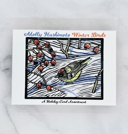 POMEGRANATE Hashimoto Winter Birds Seasons Greetings Boxed Holiday Cards 20 Cards & Envelopes, 5 each of 4 designs