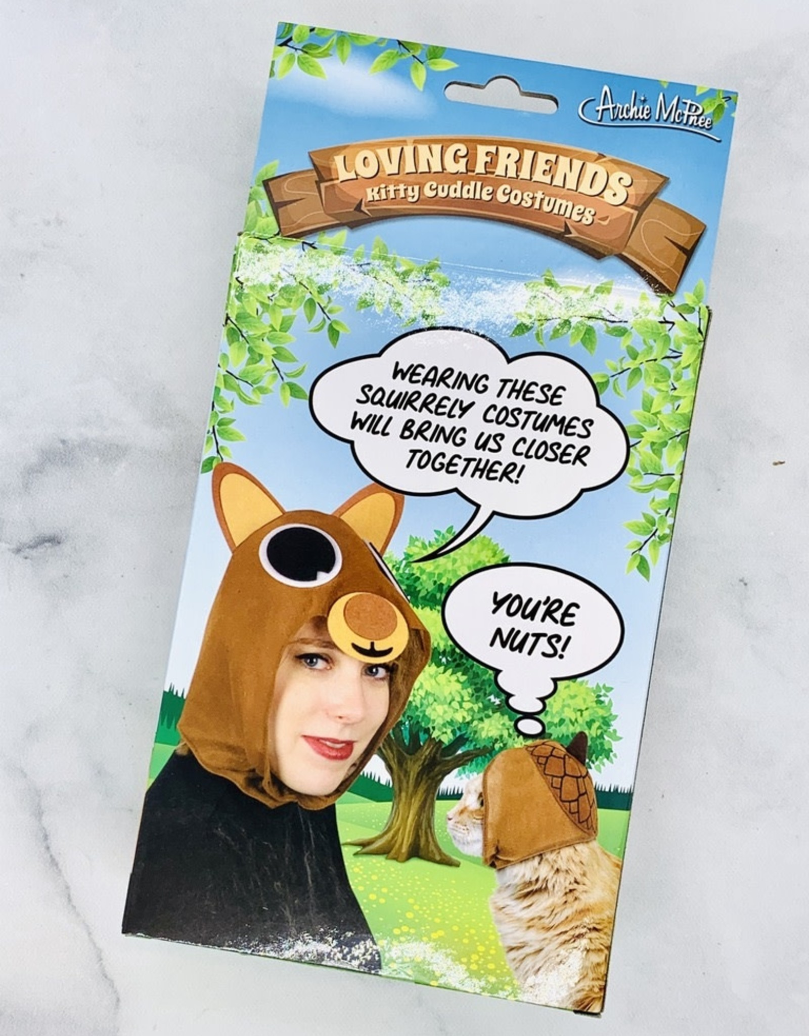 Squirrel and Acorn Kitty Cuddle Costumes