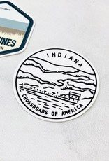 Indiana State Seal Sticker