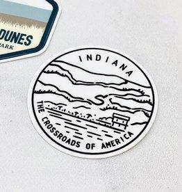 Indiana State Seal Sticker