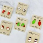 Holiday Lasercut Wood Earrings