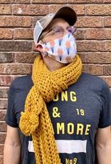 Leto Chunky Knitted Pom Pom Scarves