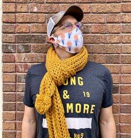 Chunky Knitted Pom Pom Scarves