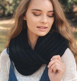 Leto Chunky Rib Knit Infinity Scarves