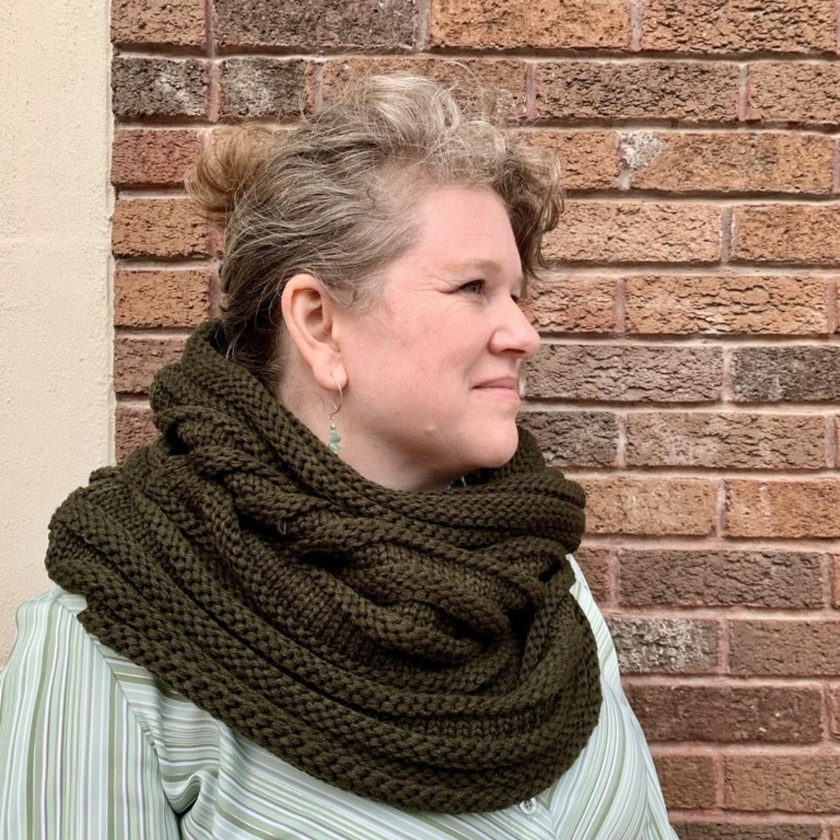 Chunky Rib Knit Infinity Scarves