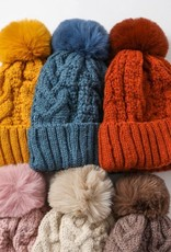 Cable Knit Beanie with Thermal Lining